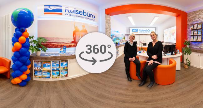 Vorschau-Bild des 360° Rundgangs des VR Reisebüro in Templin